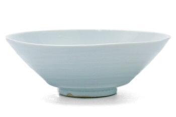 白磁・青磁:青白瓷線文扁平小鉢・海老ヶ瀬保《小鉢・12.0cm》