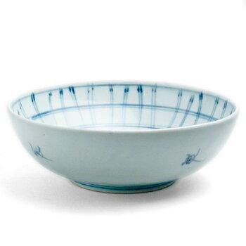 格子文5.5寸鉢・藤塚光男