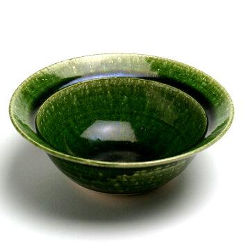 京都辻留さんがお持ちの魯山人の写しです。織部甲鉢(5.5寸)・長森慶