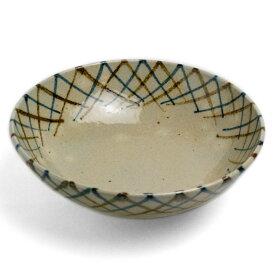 伊賀焼:二色縁網目丸鉢6寸・杉本寿樹《中鉢・18.7cm》
