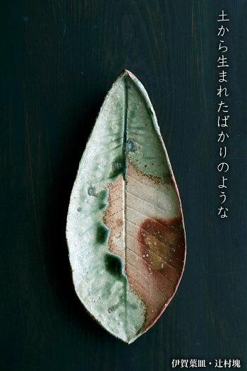 伊賀焼:伊賀葉皿・辻村塊《大皿・36.3cm》