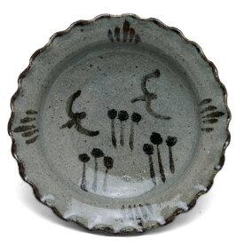 唐津焼:絵唐津鳥文四寸皿・中村恵子《小皿・12.0cm》