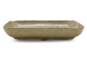 灰釉15.5cm角皿・有松進