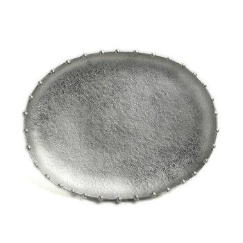 錫まゆ皿・深・星屑・ゆり工房