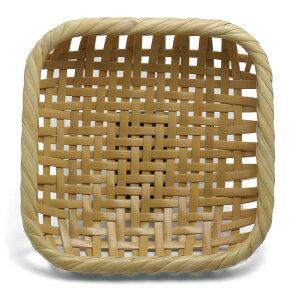竹:角パン籠・小・宮崎珠太郎《ざる・17.5cm》