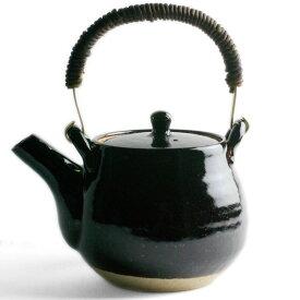 伊賀焼:つや黒土瓶・細・杉本寿樹《土瓶・600ml》