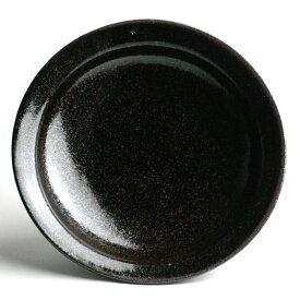 唐津焼:黒唐津五寸皿・中村恵子《小皿・5寸・15.5cm》
