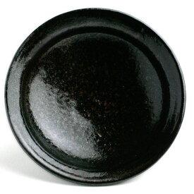 唐津焼:黒唐津四寸五分皿・中村恵子《小皿・4.5寸・14.0cm》