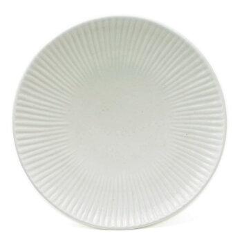 白磁しのぎ5寸皿・阿部春弥