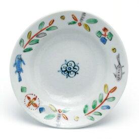 九谷焼:色絵カンタ文3.5寸皿・正木春蔵《小皿・10.7cm》