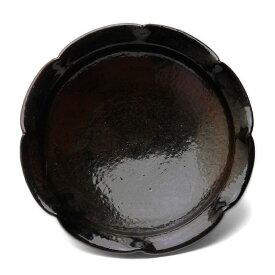 唐津焼:黒唐津波状文皿・中村恵子《小皿・15.5cm》