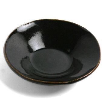あめ釉型押皿・杉本寿樹