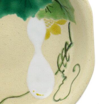 京焼・色絵四方ひょうたん小皿・伏原博之《豆皿・小皿・10.0cm》