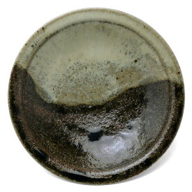 唐津焼:朝鮮唐津五寸五分皿・中村恵子《中皿・5.5寸・17.3cm》