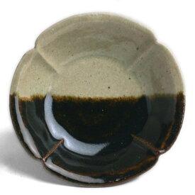 伊賀焼:あめ釉掛分型押小付・杉本寿樹《小付・11.3cm》