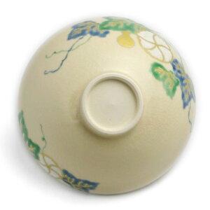 京焼・色絵夕顔紋煎茶茶碗・伏原博之