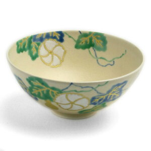 特別な日の最高のおもてなし。京焼・色絵夕顔紋煎茶茶碗・伏原博之