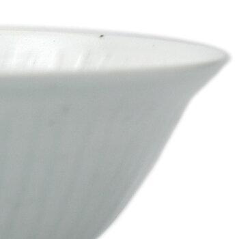 白磁:白瓷線刻飯碗・幾田晴子《飯碗・ご飯茶碗・12.5cm》
