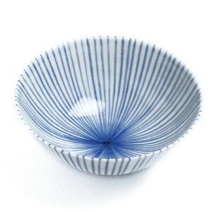 自然釉薬が優しいご飯茶碗染付細麦わら飯碗・阪東晃司