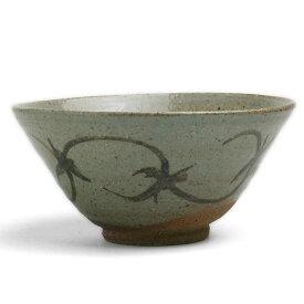 唐津焼:絵唐津飯碗・唐草文・大・中村恵子《飯碗・ご飯茶碗》