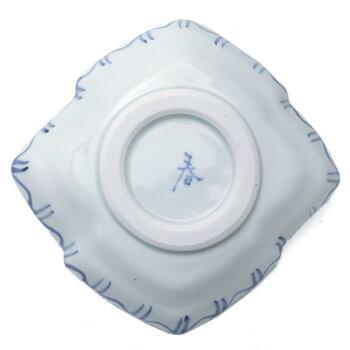 九谷焼:色絵染付松川菱形向付・正木春蔵《向付・小皿・扁形皿・17.0cm》
