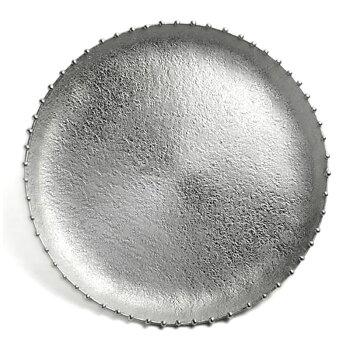 錫三つ足丸皿・大・星屑・ゆり工房