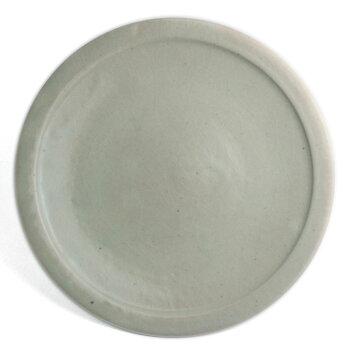 白釉縁付8寸皿・杉本寿樹