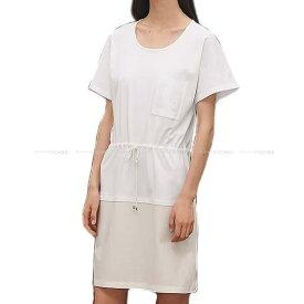 【ご褒美に★】2019年春夏 新作 HERMES エルメス Tシャツ ワンピース ポケット付 刺繍 #38 白(ホワイト) コットン100% 新品 (2019 S/S NEW HERMES Embroidered pocket One-Piece T-shirt #38 Blanc(White) Cotton100%[Brand New][Authentic])【あす楽対応】#yochika