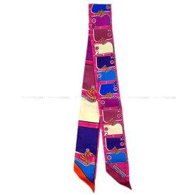"""【ご褒美に★】HERMES エルメス ツイリー スカーフ """"カマイユ"""" プロンXフランボワーズXオレンジ シルク100% 新品未使用 (HERMES Twilly Scarf """"CAMAILS"""" Plomb/Framboise/Orange Silk100%[Never used][Authentic])【あす楽対応】#yochika"""