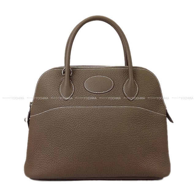 【夏のボーナスで★】HERMES エルメス ハンドバッグ ボリード31 エトープ (エトゥープ) トリヨン シルバー金具 新品 (HERMES Handbag Bolide 31 Etoupe Taurillon Clemence SHW[Brand New][Authentic])【あす楽対応】#よちか