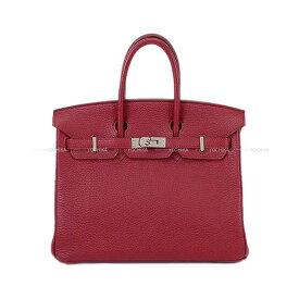 【キャッシュレスポイント還元★】HERMES エルメス ハンドバッグ バーキン25 ルビー トゴ シルバー金具 SAランク【中古】 ([Pre-loved]HERMES Handbag Birkin 25 Ruby Togo SHW[USED SA][Authentic])【あす楽対応】#yochika