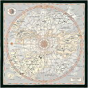 "HERMES エルメス ショール カレ140 ""Planisphere dun Monde Eduestre"" グリス/黒/オレンジ シルク 新品 (HERMES Carre140 Shawl ""Plani…"