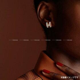 """【ご褒美に★】HERMESエルメスピアス""""ポップアッシュ""""H型黒(ブラック)Xローズゴールドローズゴールド金具新品(HERMESPierce""""PopH""""Black(Noir)/RoseGoldRGHW[Brandnew][Authentic])【あす楽対応】#yochika"""