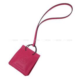 """2020年秋冬限定 HERMES エルメス バッグチャーム ショッパー型 ミニショッピングバッグ モチーフ """"サックオランジュ"""" ローズメキシコ アニューミロ 新品 (2020AW Limited HERMES bag charm Mini Shopping bag""""Sac Orange"""" Rose Mexico Agneau Milo[Brand new][Authentic])"""