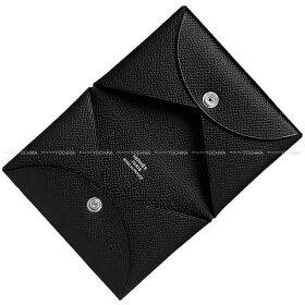 【ご褒美に★】HERMESエルメスカードケースCalvi(カルヴィ)黒(ブラック)エプソンシルバー金具C刻印新品(HERMESCardcaseCalviBlack(Noir)EpsomSHWC[Brandnew][Authentic])【あす楽対応】#yochika