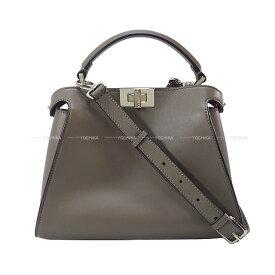 FENDI フェンディ ピーカブー アイコニック エッセンシャリー グレー/ピンク カーフレザー 8BN302 ハンドバッグ 新品同様【中古】([Pre-loved] FENDI Iconic PeekaBoo Essential Gray/Pink Calf Leathe Handbag[NEAR MINT][Authentic])【あす楽対応】#yochika
