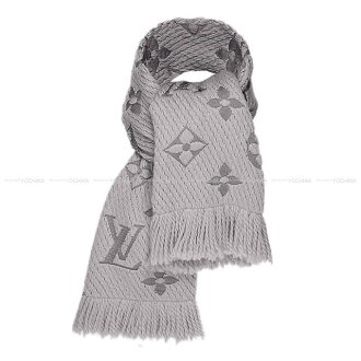 LOUIS VUITTON Louis Vuitton scarf echarp ロゴマニアグリペルル (light gray) M74742 new article (LOUIS VUITTON Echarpe Logomania Muffler Gris perle M74742[Brand new][Authentic])# よちか