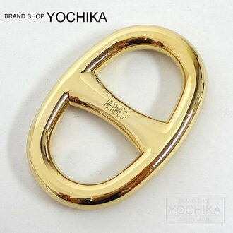 "HERMES 헤르메스 스카프 링""시누단크루""골드 신품미사용(HERMES Scarf Ring ""Chaine d'Ancre"" Gold [Never used][Authentic])#yochika"