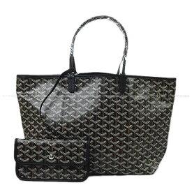 """【ご褒美に★】GOYARD ゴヤール トートバッグ """"サンルイ PM"""" 黒(ブラック) PVCコーティングキャンバス×カーフ 新品未使用【中古】 (GOYARD Tote Bag """"SAINT LOUI PM"""" Black(Noir) PVC Coating canvas/Calf[Never Used][Authentic])【あす楽対応】#yochika"""