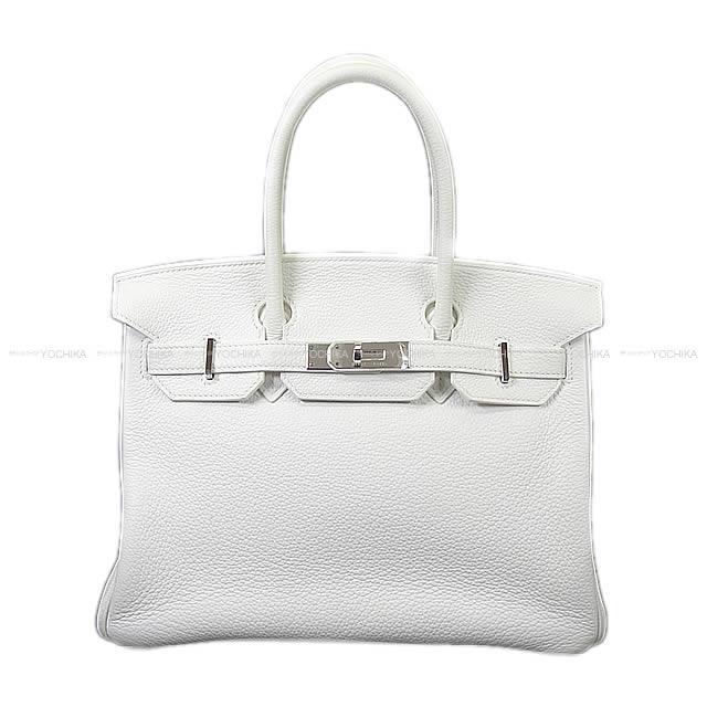 【ご褒美に★】HERMES エルメス ハンドバッグ バーキン30 白 トリヨン シルバー金具 SAランク【中古】 ([Pre-loved]HERMES handbags Birkin30 White Taurillon Clemence SHW[Used SA][Authentic])【あす楽対応】#yochika