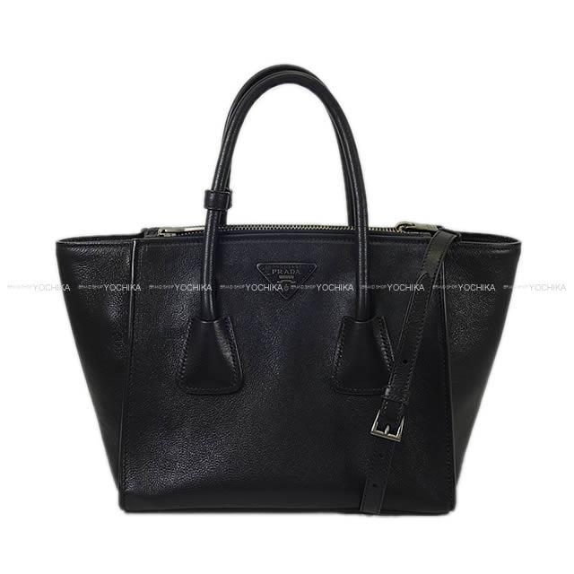 【新作続々入荷中★】PRADA プラダ 2way ショルダー ハンドバッグ黒(ブラック)グレースカーフ B2625M SAランク【中古】 ([Pre Loved]PRADA 2way Handbag Black Glace calf B2625M[Used SA][Authentic])【あす楽対応】#yochika