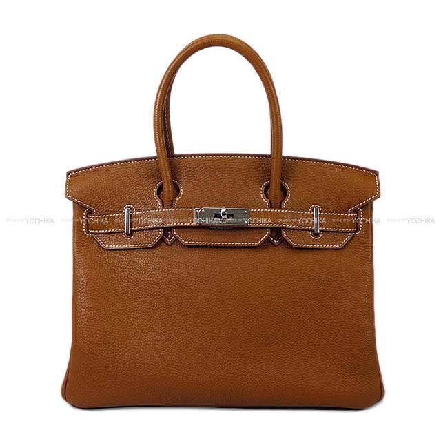 【ご褒美に★】HERMES エルメス ハンドバッグ バーキン30 ゴールド トゴ シルバー金具 新品同様【中古】 ([Pre-loved]HERMES handbag Birkin30 Gold Togo SHW[Near mint][Authentic])【あす楽対応】#yochika
