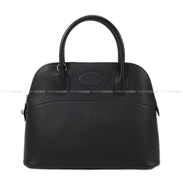 【新作続々入荷中★】HERMES エルメス ハンドバッグ ボリード31黒(ブラック)アルデンヌ シルバー金具 新品同様【中古】 ([Pre-loved]HERMES Handbag Bolide 31 Black(Noir) Ardennes SHW[Near mint][Authentic])【あす楽対応】#yochika