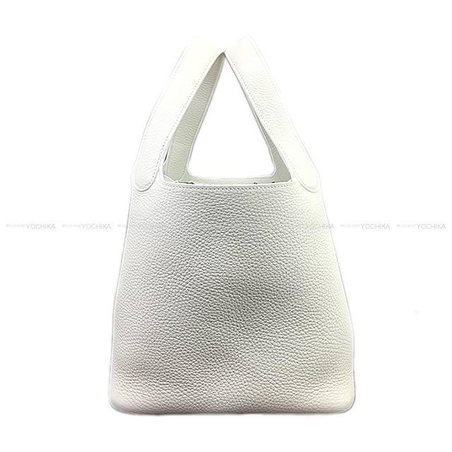 【ご褒美に★】HERMES エルメス ハンドバッグ ピコタンロック 22 MM 白(ホワイト) トリヨン (内側レザー) シルバー金具 新品 (Hermes handbags Picotin Lock 22 MM White(Blanc) Taurillon Clemence [Brand New][Authentic])【あす楽対応】#yochika