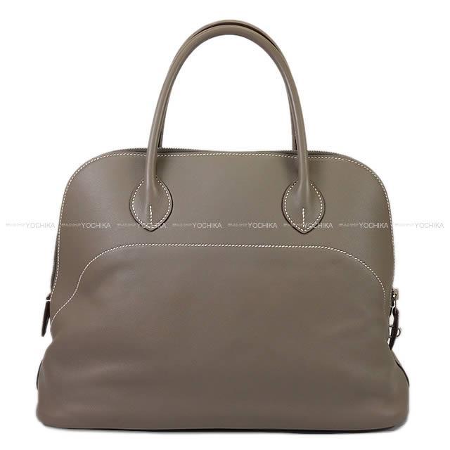 【新作続々入荷中★】HERMES エルメス ハンドバッグ ボリードリラックス35 グリススーリ ヴォー・キッシム シルバー金具 新品同様【中古】 ([Pre-loved]HERMES Handbags Bolide Relax 35 Gris Souris Veau Sikkim SHW[Near Mint][Authentic])【あす楽対応】#yochika