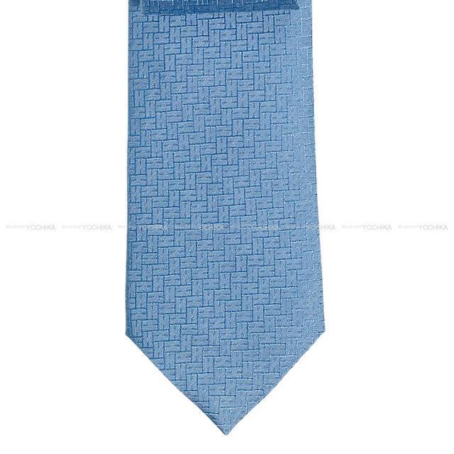 """【新作続々入荷中★】HERMES エルメス ネクタイ """"FACONNEE H 24"""" ブルークレール シルク100% 新品 (HERMES Tie """"FACONNEE H 24"""" Blue Clear Silk100% [Brand New][Authentic])【あす楽対応】#yochika"""