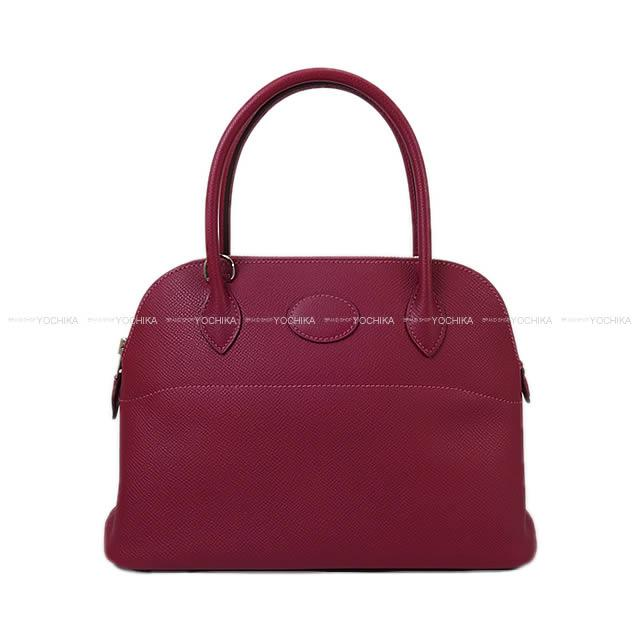 【新作続々入荷中★】HERMES エルメス ショルダーバッグ ボリード27 トスカ エプソン シルバー金具 新品同様【中古】 ([Pre-loved]HERMES Shoulder bag Bolide 27 Tosca Epsom SHW[Near mint][Authentic])【あす楽対応】#yochika