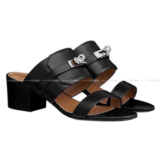 """【新作続々入荷中★】2017年春夏 新作 HERMES エルメス レディース ケリー ベルト サンダル """"オヴァシオン"""" #37 黒(ブラック) カーフ 新品 (2017SS New HERMES Lady's Kelly Belted Sandal """"Ovation"""" #37 Black Calf [Brand New][Authentic])【あす楽対応】#yochika"""