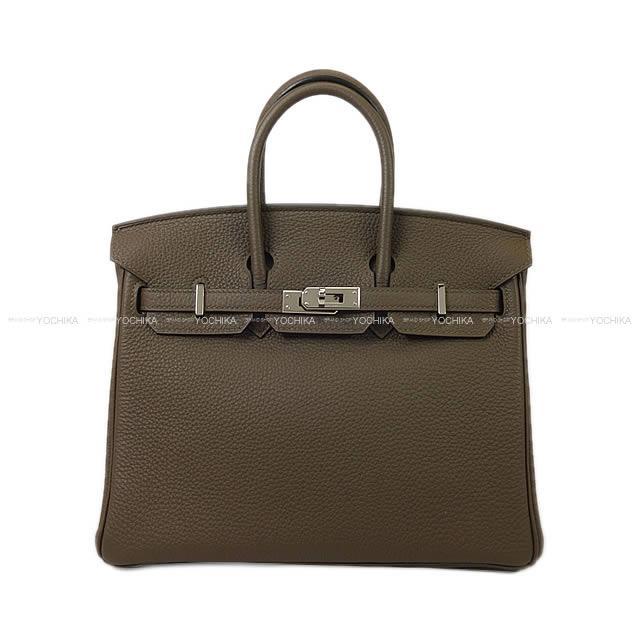 【値下げ!】HERMES エルメス ハンドバッグ バーキン25 トープ トゴ シルバー金具 新品同様【中古】 ([Pre-loved]HERMES Handbag Birkin 25 Taupe Togo SHW[Near mint][Authentic])【あす楽対応】#yochika