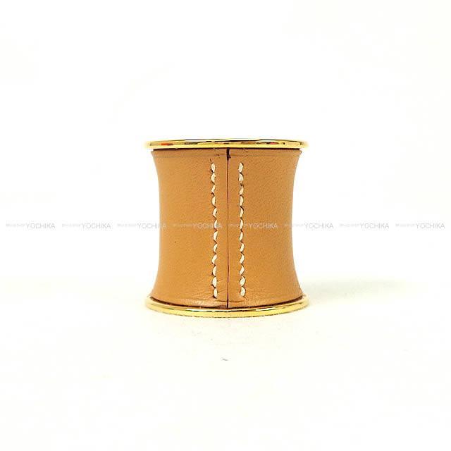【ご褒美に★】HERMES エルメス スカーフリング ナプキンホルダー ナチュラルサブレ ガリバー ゴールド金具 新品同様【中古】 ([Pre Loved]HERMES Scarf Ring Natural Sabre Veau Gulliver GHW[Near Mint][Authentic])【あす楽対応】#yochika